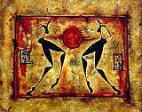 2010 Ancient athletics painting