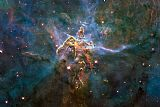 2010 Hubble pillar and jets - 20 Years of Awe painting