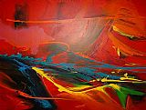 2010 Famous Paintings - Sea Dream in Red II