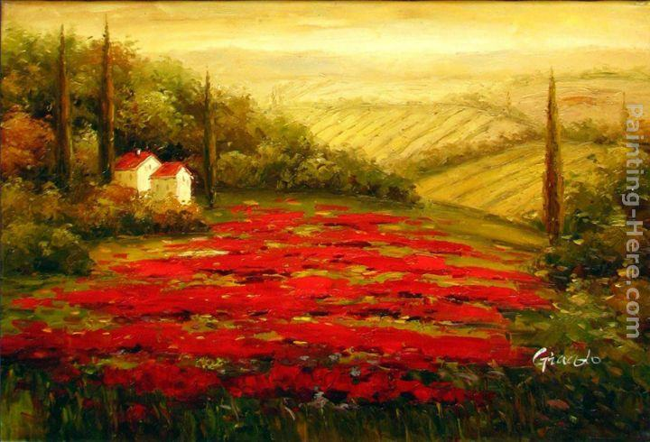 2011 Red Poppies in Tuscany