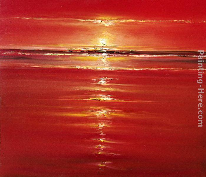 2017 Red On The Sea Painting