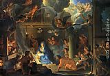 Adoration Canvas Paintings - Adoration of Shepherds Charles Lebrun