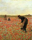 2011 Canvas Paintings - Girls in Poppy Field