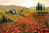 2011 Canvas Paintings - Hills of Tuscany II