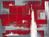 2011 Leigh Banks Red abstract painting