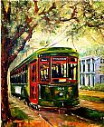 Famous Charles Paintings - New Orleans St Charles Streetcar by Diane Millsap