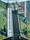 Street Canvas Paintings - Wayne Thiebaud Down Eighteenth Street
