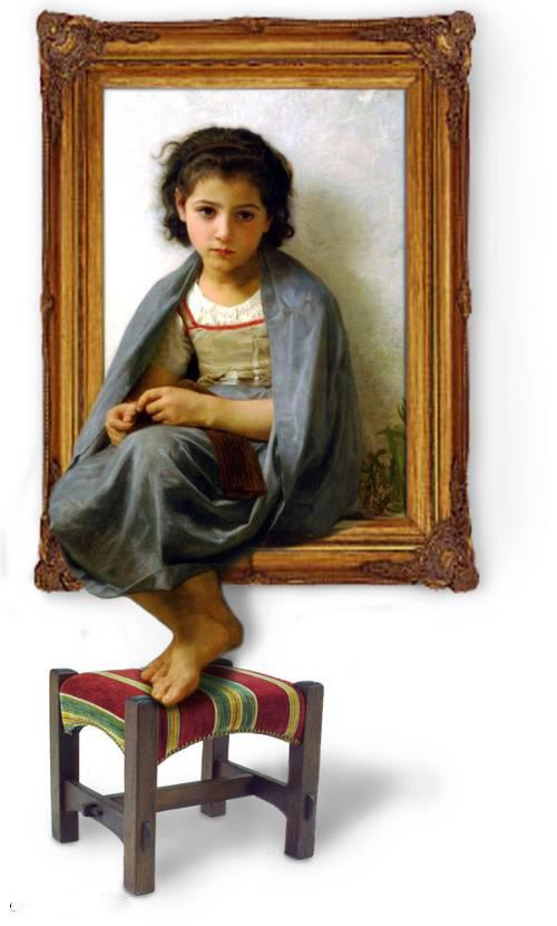 3d art young girl on a painting | framed paintings for sale