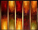Abstract Canvas Paintings - 5 panel