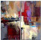 City Canvas Paintings - Sounds of City
