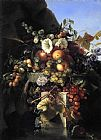 Adelheid Dietrich - Still Life with Grapes_ Peaches_ Flowers and a Butterfly