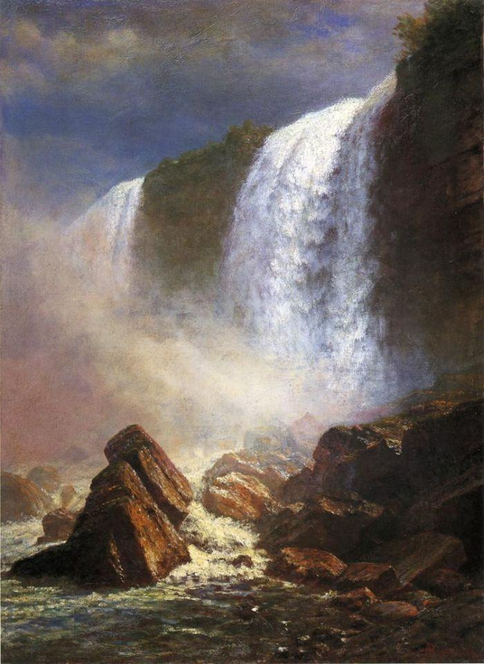 Albert Bierstadt Falls of Niagara from Below