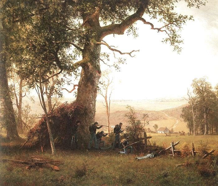 Albert Bierstadt Guerrilla Warfare (Picket Duty In Virginia)