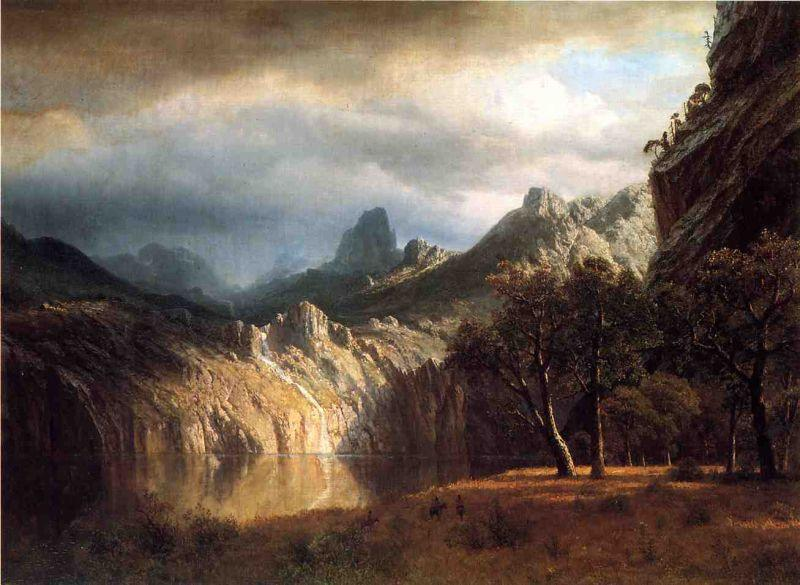 Albert Bierstadt In Western Mountains
