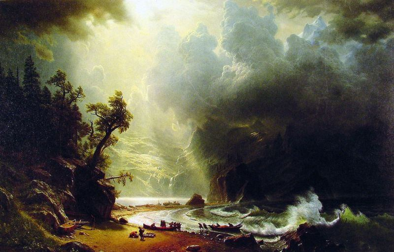 Albert Bierstadt Puget Sound on the Pacific Coast
