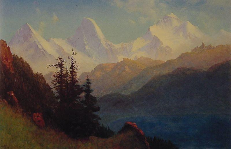 Albert Bierstadt Splendour of the Grand Tetons