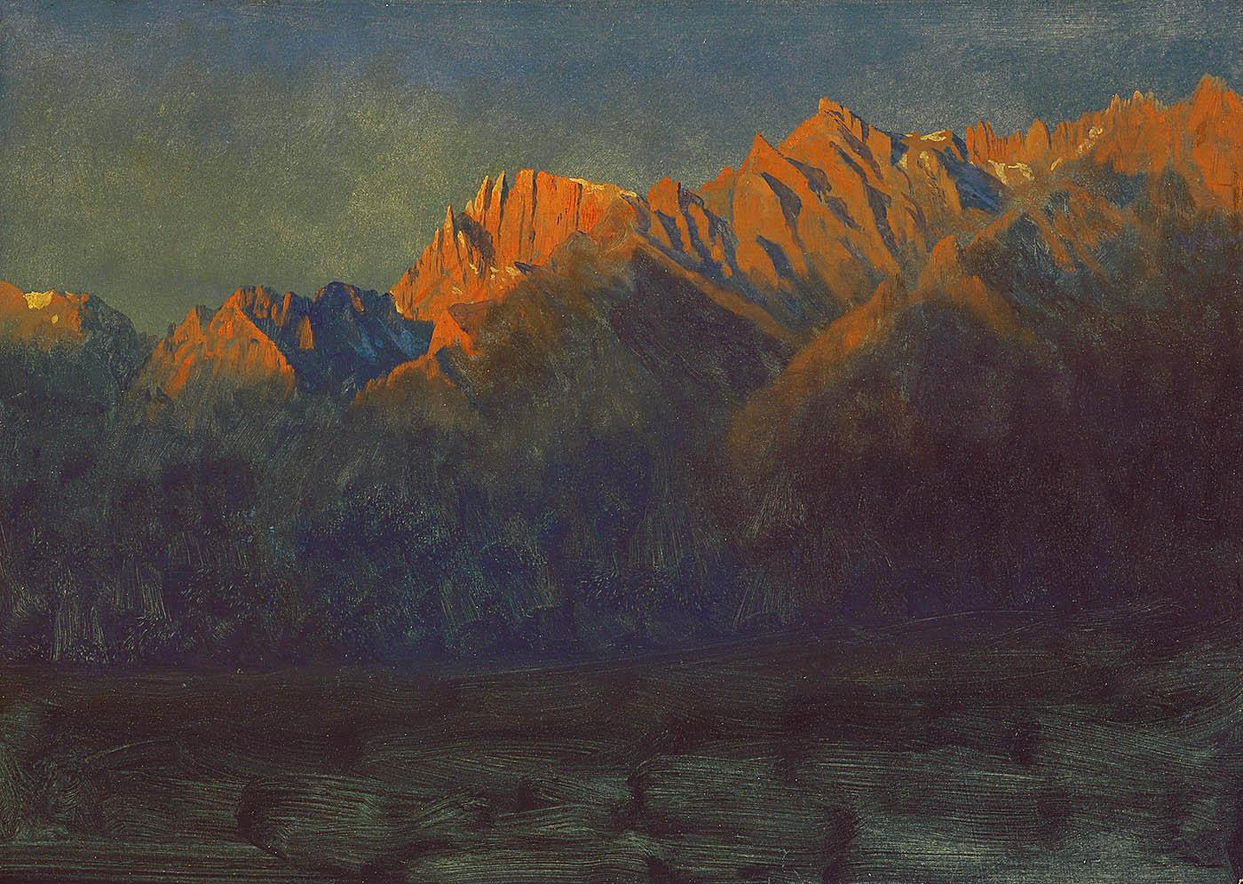 Albert Bierstadt Sunrise in the Sierras