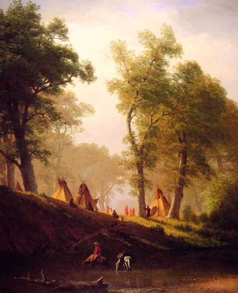 Albert Bierstadt The Wolf River, Kansas