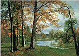 Albert Bierstadt A Quiet lake painting