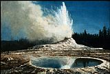 Park Canvas Paintings - Geyser, Yellowstone Park