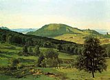 Albert Bierstadt Hill and Dale painting