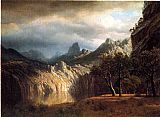 Albert Bierstadt In Western Mountains painting
