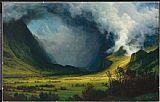 Storm Canvas Paintings - Storm In The Mountains