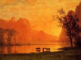 Albert Bierstadt Sundown at Yosemite painting
