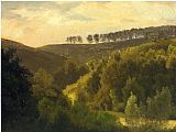 Forest Canvas Paintings - Sunrise over Forest and Grove