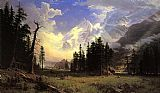 Famous Valley Paintings - The Morteratsch Glacier Upper Engadine Valley Pontresina