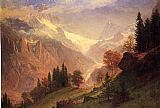 Albert Bierstadt Wall Art - View of the Grindelwald