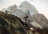 Albert Bierstadt Wall Art - Western Trail - The Rockies