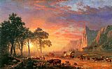 Albert Bierstadt the oregon trail painting