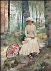 Albert Edelfelt Under the Birches painting