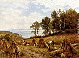 Alfred Glendening - In The Cornfields, Near Luccombe, Isle Of Wight