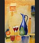 Alfred Gockel Canvas Paintings - A Light Repast II