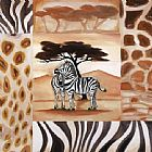 Alfred Gockel Canvas Paintings - Animals of the Veldt - Zebras