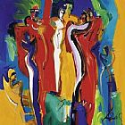 Alfred Gockel Canvas Paintings - Bachelor Party I
