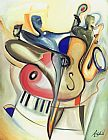 Alfred Gockel Canvas Paintings - Bass-ic Instinct