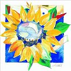 Alfred Gockel Canvas Paintings - Big Sunflower