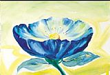 Alfred Gockel Canvas Paintings - Blue Daisy