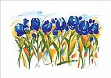 Field Canvas Paintings - Field of Tulips