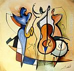 Alfred Gockel Wall Art - JAZZ TRIO