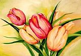 Beauty Canvas Paintings - Natural Beauty Tulips II