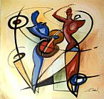 Alfred Gockel Wall Art - RHYTHM & BLUES