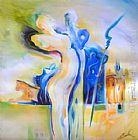 Alfred Gockel Wall Art - ROMANCE IN AN EXOTIC PLACE