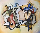 Alfred Gockel Wall Art - quartet