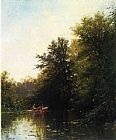 Alfred Thompson Bricher On the Mill Stream painting