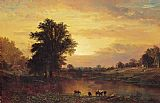 Alfred Thompson Bricher Wall Art - Sunset in the Catskills
