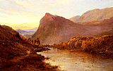 Alfred de Breanski - Sunset In The Glen